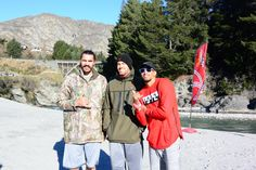 Shotover Jet Celebrity Faces Steven Adams, Andre Roberson, Nick Collison in Queenstown, New Zealand ready for an adventure