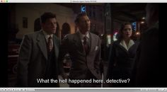 """Agent Carter, Episode 8  """"What the hell happened here, Detective?""""  (the set-up)  (1 of 2)"""