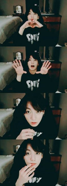 ʚ゚•MY BUNNY•°♡。゚ 180420 Vlive: Kookie ~♡ #BTS LIVE #JUNGKOOK ❤ My love... Kalp kalbe karşı