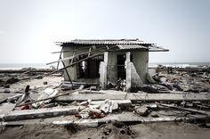 At Kalamulla, Sri Lanka some houses survived the tsunami of 2004. Photography by John Wilson www.johnwilsonphotographer.com.au