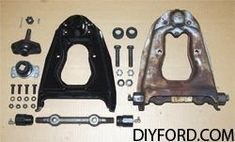 Mustang Front Suspenstion and Upper Control Arm Rebuild Guide Helps You carry out and 73 Mustang Restoration Project yourself Mustang Restoration, 1965 Mustang, Control Arm, Mustangs, Automobile, Arms, Muscle, Surface, Shape