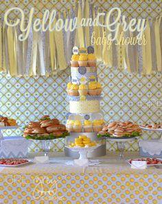 Yellow and Grey Bundle of Joy Baby Shower by Grey Grey Designs