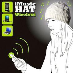 Gorro con auriculares inalámbricos iMusic Wireless - Tecniac