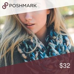 Soft Braided Loose Knot Infinity Scarf Absolutely stunning! Gorgeous shades of blues and teal with a touch of pale cream.    Super Soft, Big Loose Knit, Infinity Scarf  Limited Quantity! Accessories Scarves & Wraps