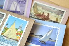 Sailboating Stationery Stamped Sailboat Cards by EdelweissPost, $29.00
