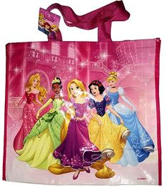 cd2fc2e709f Disney Princesses Licensed Reusable Foldable Shopping Bag Large 45 x 40 x  22 cm. Soft