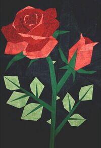 love this rose quilt/block