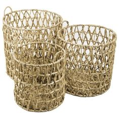 Water Hyacinth Quilted Hamper  , Handmade in Vietnam  | Overstock.com Shopping - The Best Deals on Baskets & Bowls