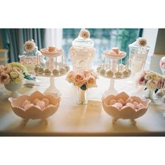 Blush dessert table... perfect for a wedding!
