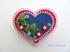 felt hearts | visit etsy com