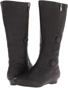 Shop for Myla Wide Calf Boot (Black Antique Calf) - Footwear by Fitzwell at ShopStyle. Cute Boots For Women, Wide Calf Boots, Myla, Comfortable Heels, Winter Shoes, Wedge Heels, Black Boots, Fashion Forward, Riding Boots