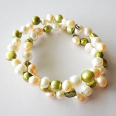 Tri-color Pearl Bracelet