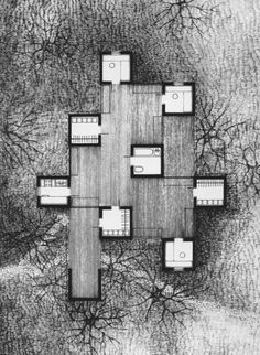 Bilderesultat for Jan Szpakowicz Architecture Tools, Architecture Drawings, Architecture Details, Chinese Architecture, Planer Layout, Study Room Design, Archi Design, Plan Drawing, Courtyard House