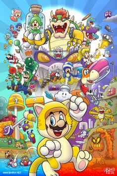 I must complain is that this game breaks tradition with ALL previous Mario Platformers. Yoshi doesn't make even a cameo in Super Mario World (sigh). Super Mario Bros, Super Mario World, Mundo Super Mario, Super Mario Kunst, Super Mario Games, Super Mario Brothers, Super Smash Bros, Super Mario Nintendo, Jeux Nintendo 3ds