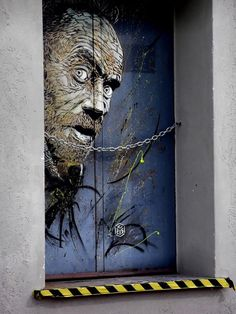 Street Art by French Artist for Carugate Street art project (Italy). curated by urban Painting Graffiti Artwork, Street Art Graffiti, Urban Painting, Best Street Art, Wow Art, Art Design, Door Design, Interior Design, Art Graphique