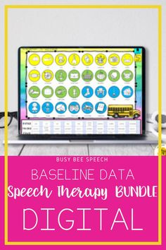 Digital, No Prep, No Print Baseline bundle for speech language pathologists.