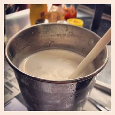 Day #245 - stealing a slurp of my boyfriend's classic American-style vanilla milkshake from @byronhamburgers