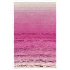 Wool rug with an ombre motif and dot details.  Product: RugConstruction Material: WoolColor: Pin...