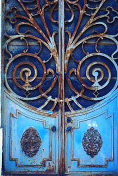 Blue - azul - door - porta