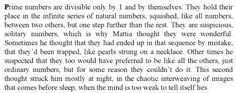 Paolo Giordano, 'The Solitude of Prime Numbers'    This resonates in my nerdy/geeky heart.