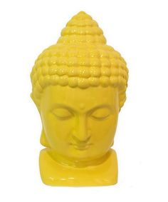 Take a look at this Yellow Meditating Buddha Head Figurine by Three Hands Corporation on #zulily today!