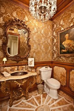 Little Balboa Private Residence - traditional - powder room - orange county - Palmer Designs