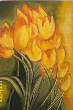 pastel boya-laleler CRAYONS-TULIPS
