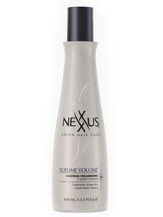 To thicken hair, try Nexxus Diametress Luscious Hair Thickening Shampoo and Sublime Volume Luscious Bodifying Conditioner ($14 shampoo, $15 conditioner).