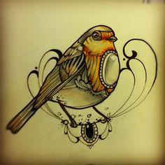 Eccomi di nuovo a stressarvi con i miei disegni... si adoro disegnare uccellini ciccioni! ecco due pettirossi!! i really like to draw...
