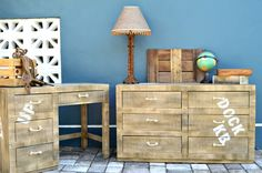 How to create a faux wooden pallet look from wicker