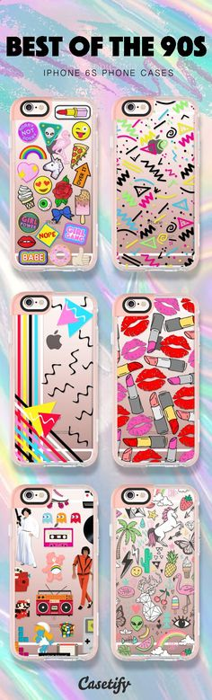 Phone Cases - Best of the 90s iPhone 6S Phone Case Designs - Shop them all here > www.casetify.com/...