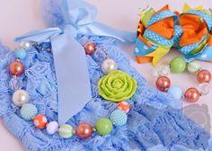 Lime, Light Blue & Orange Gift Set