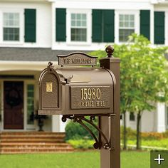 Instant Curb Appeal: 15 Fast Facade Fix-Ups Traditional Mailboxes, Mailbox Monogram, Painted Front Doors, Extruded Aluminum, Outdoor Living, Outdoor Decor, Luxury Home Decor, Curb Appeal, Home Interior Design