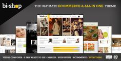 Bi-Shop v1.6.0  All In One: Ecommerce & Corporate WP theme