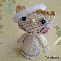 Crochet patrones de angel  DIY ganchillo patrón por VendulkaM