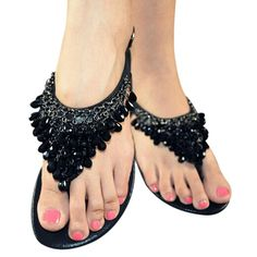 Women Sandals,Shien(TM)Crystal Pendant With Rhinestone Flat Shoes Bohemian Sandals *** See this great product.