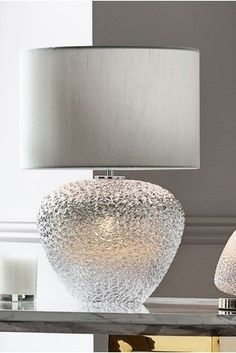 A chic design to light up a corner! Our Monroe dual light table lamp is a beautiful addition. Touch Table Lamps, Large Table Lamps, Light Table, Living Room Lighting, Home Lighting, Contemporary Home Decor, Glass Shades, Decoration, Chrome