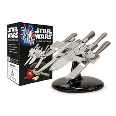 This Knife Set Assembles into an X-Wing Starfighter