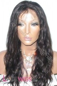 """16"""" Body Wave #1B Glueless Full Lace Wigs 100% Indian Remy Human Hair"""