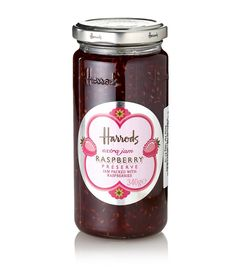 HARRODS  Food Halls Collection Extra Jam Raspberry Preserve (340g)