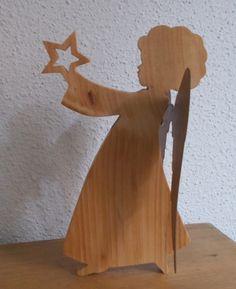 ANGE EN BOIS - Ange en bois à poser - Décoration de Noël ange en bois brut
