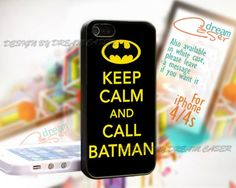 Keep Calm Batman - Print On Hard Case iPhone 4/4S Case