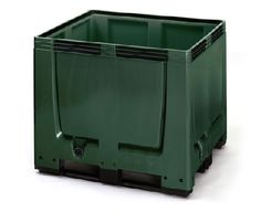 The Big Boxes are made of a robust, scratch-resistant plastic material. Smooth inner and outer walls ensure easy cleaning.    Standardized dimensions (Euro 1,200 x 800 mm or ISO 1,200 x 1,000 mm) ensure smooth operation in storage and transport processes.    Also stackable with lid  Superimposed load 4 tonnes  ISO and EURO dimensions  availabe with feet, skids or wheels    Price: £158.28    Weight: 47.00 kg