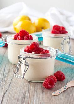 easy, fresh lemon mousse topped with fresh fruit | ahappyfooddance.com