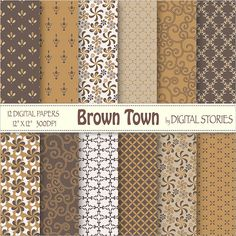 Brown Morocco Arabesque Digital Paper Pack BUY 2 by DigitalStories  https://www.etsy.com/listing/127865180/brown-morocco-arabesque-digital-paper?ref=shop_home_active_9