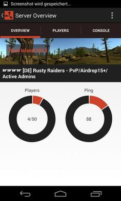 RustDroid: Rust Server Admin v1.0.1 apk Requirements: 3.0+ Overview: Rust Droid is a administrations and monitoring app for Rust.