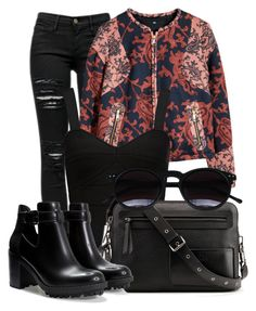 """""""Untitled #128"""" by zchristine ❤ liked on Polyvore featuring Frame, H&M, Forever New, Christian Louboutin, Zara and Chicnova Fashion"""