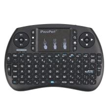 iPazzPort KP-810-21S Handheld 2.4G Wireless Multimedia Mini QWERTY Keyboard with Touchpad Mouse Remote Control for Android TV Box Google TV Box Pad Windows PC Smart TV