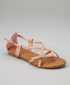 Take a look at the TOP MODA Blush Strappy Sandal on #zulily today!
