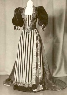 Court dress, 1895, Cornell University